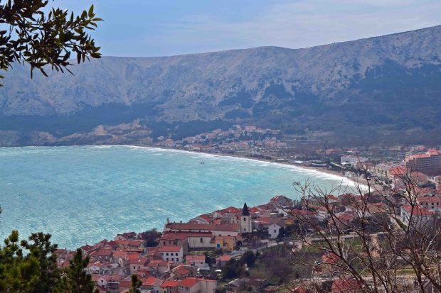 Bay of Baska on Krk island Croatia